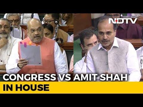 On Kashmir Move, Amit Shah vs Congress In Parliament In Lok Sabha