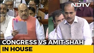 On Kashmir Move, Amit Shah vs Congress In Parliament In Lok Sabha