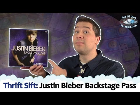 Justin Bieber Backstage Pass - Thrift Sift Board Game Review