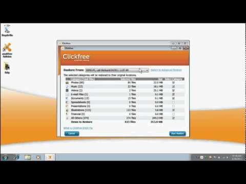 How to use EASY Restore - Clickfree TV
