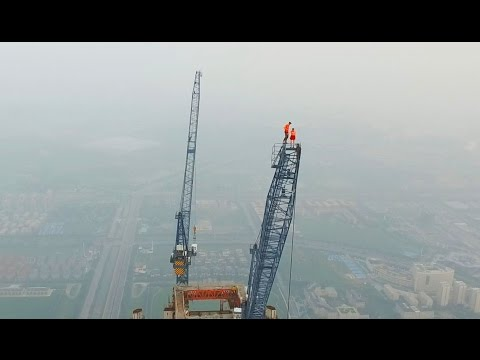 Couple Climbs The HIGHEST CONSTRUCTION SITE IN THE WORLD 640M