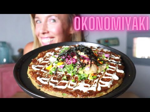 OKONOMIYAKI 🇯🇵 vegan streetfood homemade   🌱  episode 01 {gluten-free}
