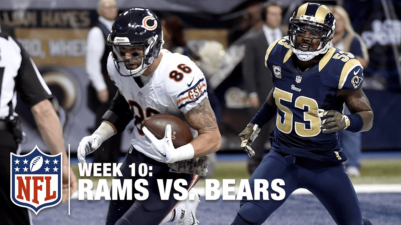 Wholesale NFL Jerseys cheap - Zach Miller Rumbles Down Field for an 87-yard TD! | Bears vs. Rams ...