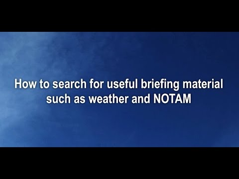 How to access meteorological and NOTAM information for flight planning