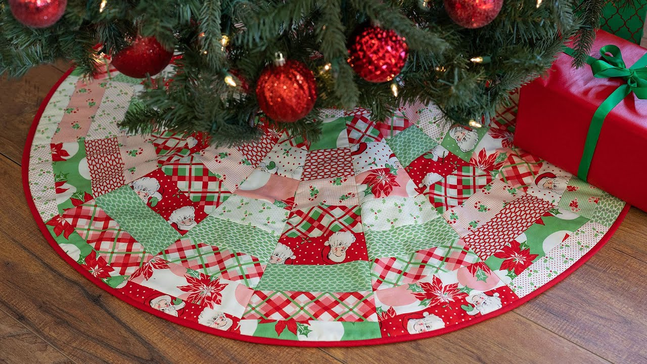 How To Make June Tailor S Quilt As You Go Tree Skirt A