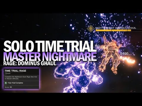 Solo Time Trial: Rage Triumph (Flawless Master Nightmare Hunt Time Trial) [Destiny 2]