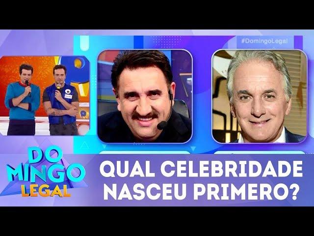 Qual celebridade nasceu primeiro? | Domingo Legal (09/03/19)
