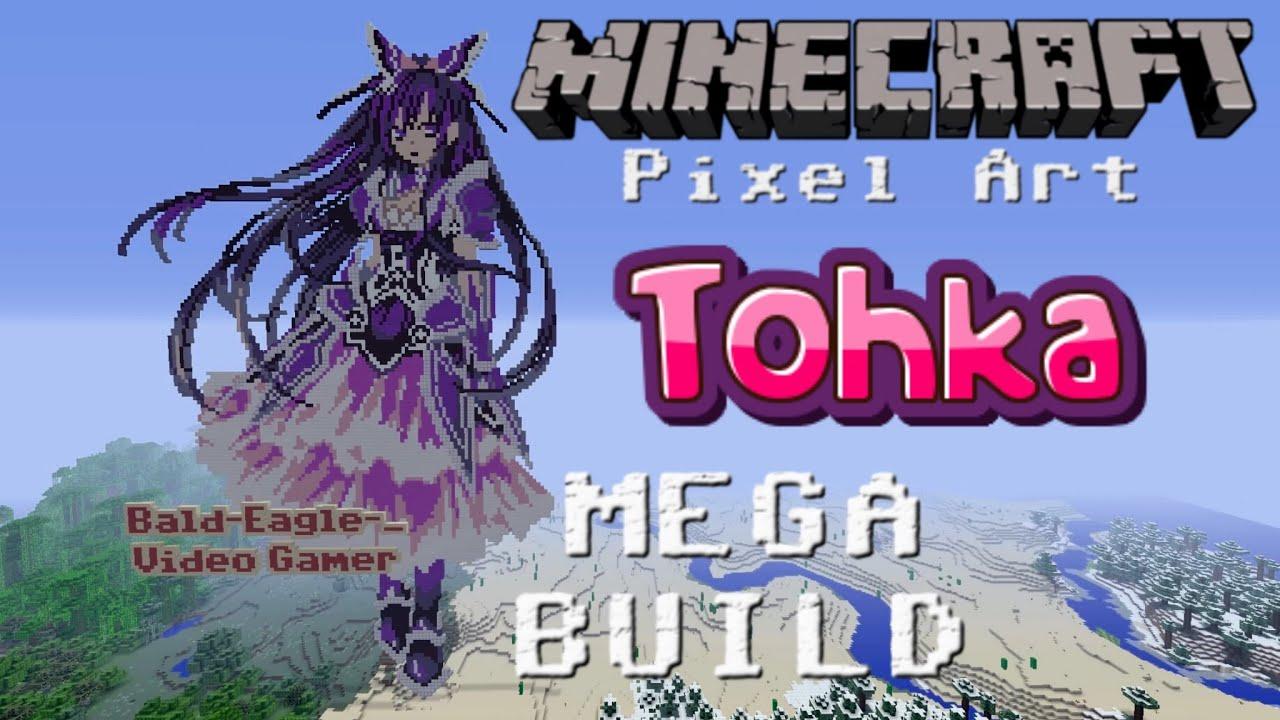 Minecraft PixelArt - Yoshino Date a Live  Minecraft Xbox One by