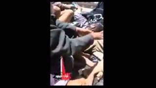 مقطع فيديو يوضح شراسة المعارك التي دارة في التلفزيون في العاصمه صنعاء (عيسى الشدادي)