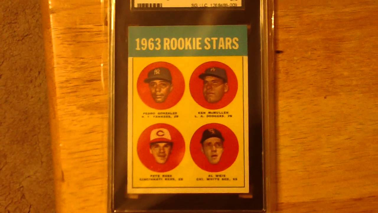 Vintage 1963 Pete Rose Rookie Card