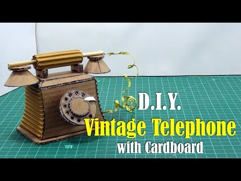 DIY: Vintage Telephone with Cardboard - How to make