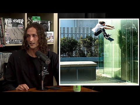 Evan Smith Kickflip Wallride On A Glass Wall