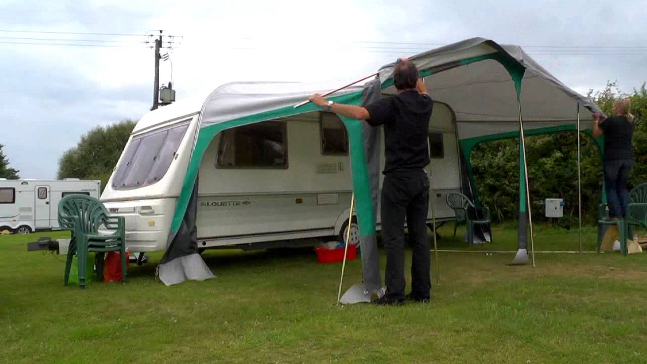 Putting Up A Caravan Awning Time Lapse Youtube
