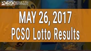 Lotto Result May 26, 2017 (6/58, 6/45, 4D, Swertres & EZ2)