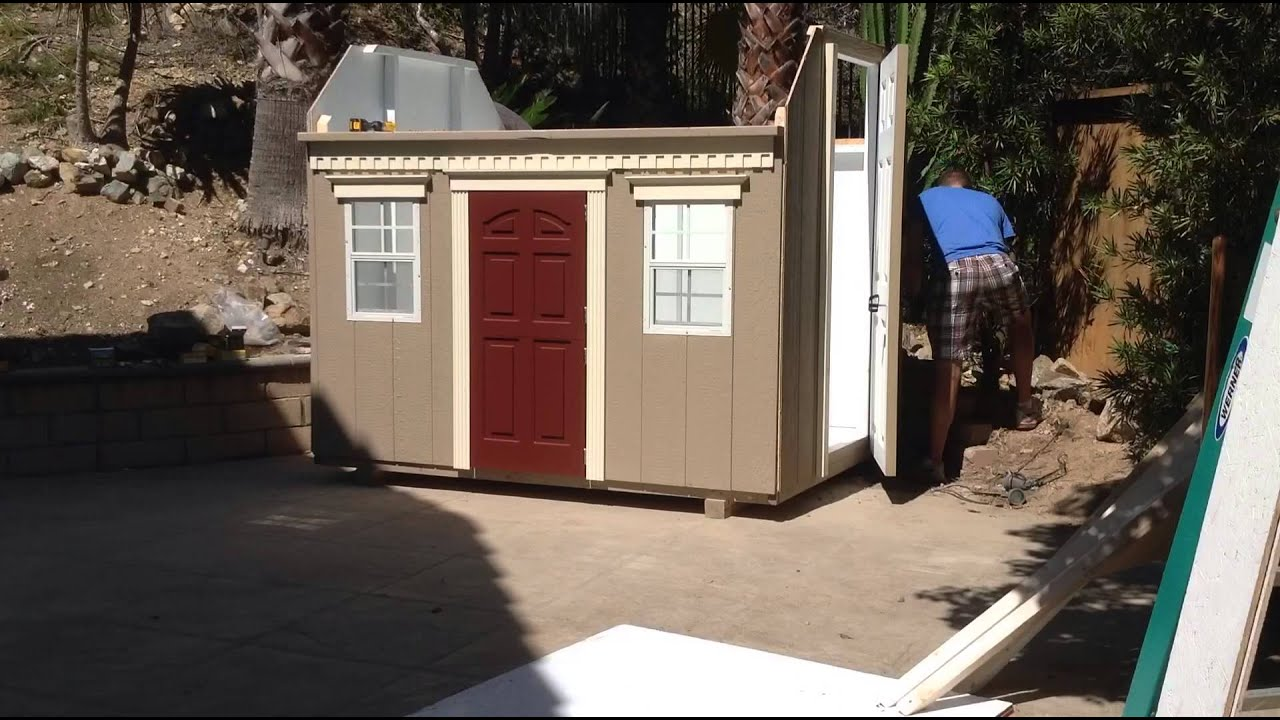 cottage playhouse assembly part 1 youtube