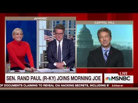"Sen. Rand Paul on MSNBC's ""Morning Joe"" - March 8, 2017"