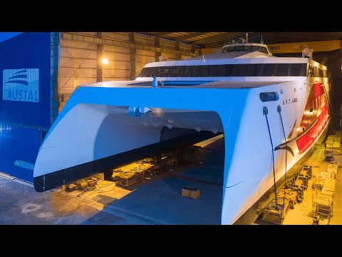 Austal Hull 397 - A.P.T James - Launch