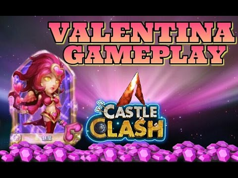 Castle Clash New Hero Valentina Gameplay!