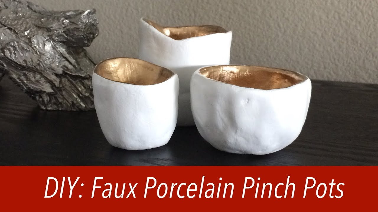 How to faux porcelain pinch pots air dry clay youtube - Why you should cook clay pots ...