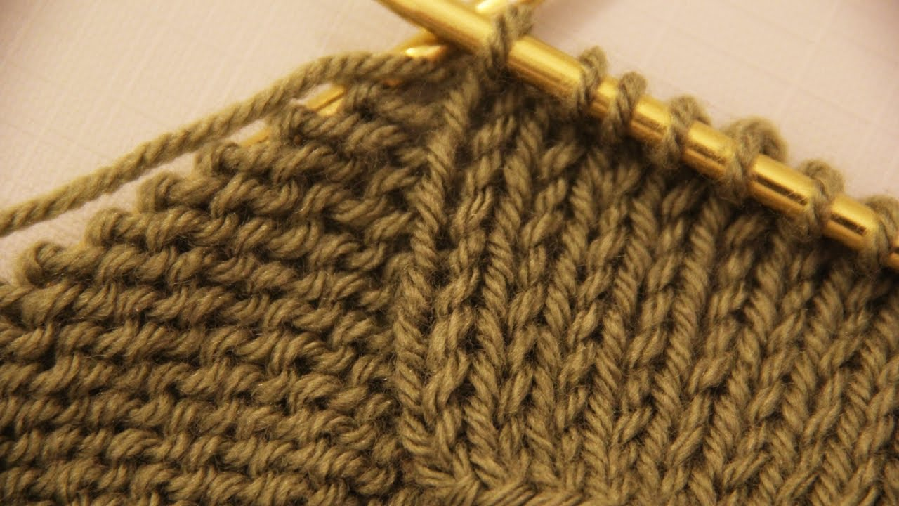 Basic Knitting Stitches For Beginners : How to make a purl and knit stitches - basics of knitting. Video tutorial for...