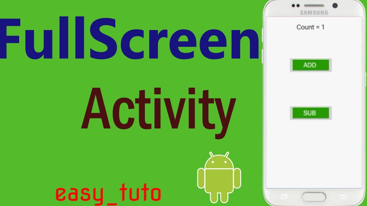 Fullscreen Activity | Android Studio Tutorial (Beginners) HD | All About  Android