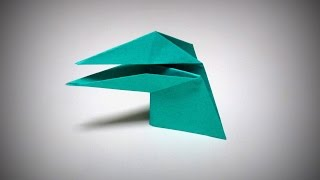 Origami - How to make a DINOSAUR (that can move its mouth)