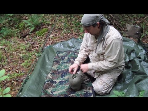 Naturally Cooling A Tarp Shelter