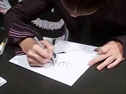 Akihisa Ikeda drawing Moka (Rosario+Vampire)- Live from Lucca Comics 2012
