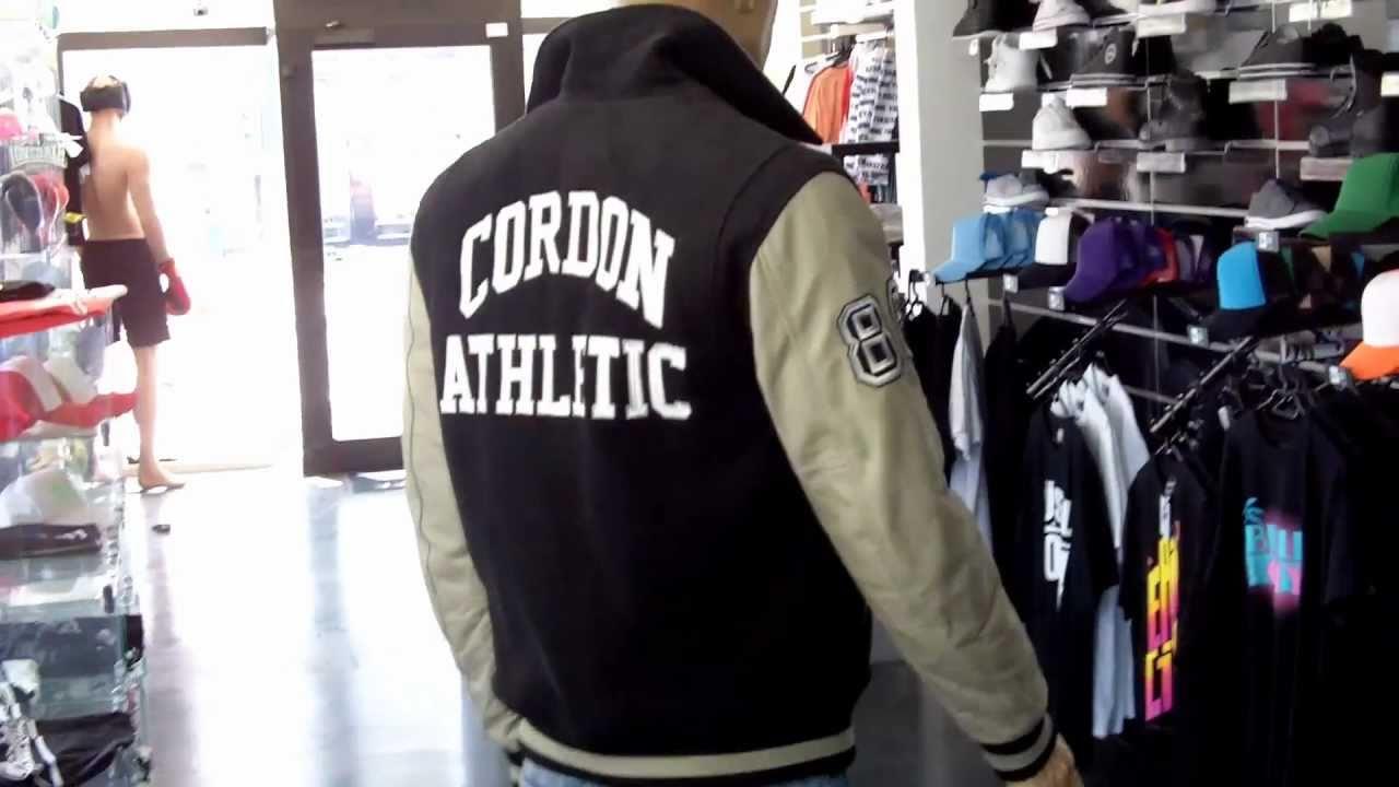 Cordon Sport Lederjacke Beig