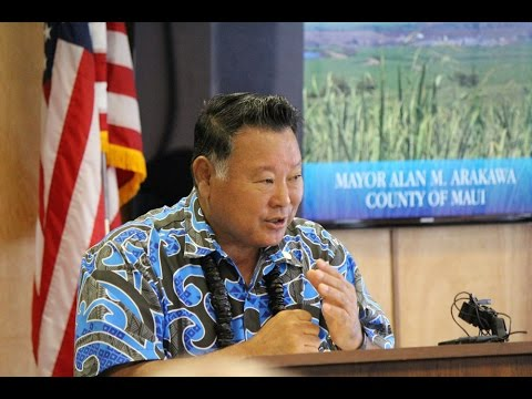 Maui Mayor Presents His 2017 Budget to Council