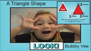 Shape Lesson - Learning about a Triangle - Preschool Activity