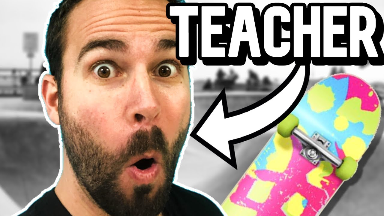 TEASER - Teacher Tries to Learn to SKATEBOARD in 1 Month