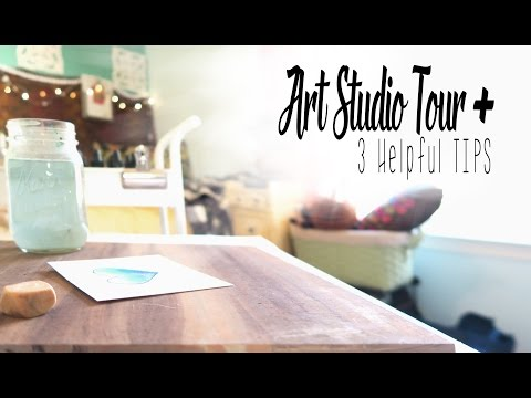 Watercolor Art Studio Tour & Creative Ways to Make Your Own?