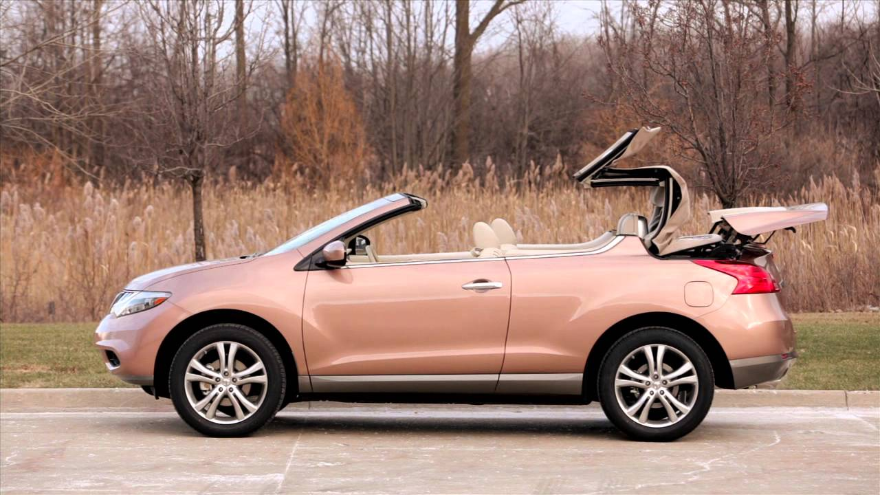 2012 Nissan Murano CrossCabriolet  Soft Top  YouTube