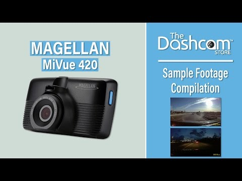 Magellan MiVue 420 Super HD Dash Cam Sample Footage |  By The Dashcam Store™