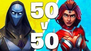 50 vs 50 MODE LIVE!! (Fortnite Battle Royale)