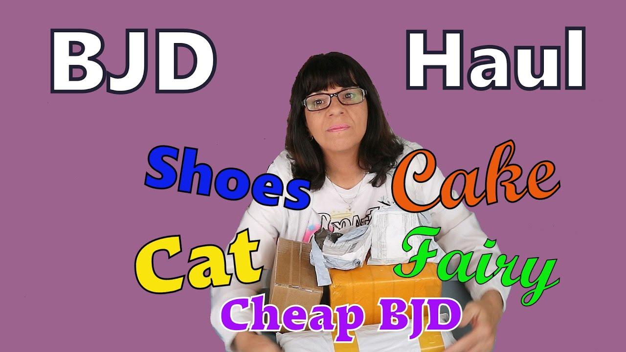 BJD Unboxing // Aliexpress Haul // Cheap BJD / Under $10.00 Doll // Cat / Anime Fairy / Cake, Shoes