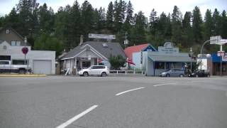 Driving in PRINCETON BC (British Columbia) Canada - Gold Mining Town - Similkameen region