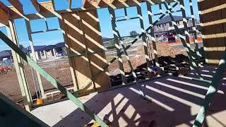 156 Наша стройка: поставили каркас 1го этажа
