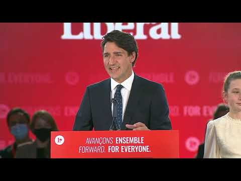 Justin Trudeau delivers victory speech after federal election win