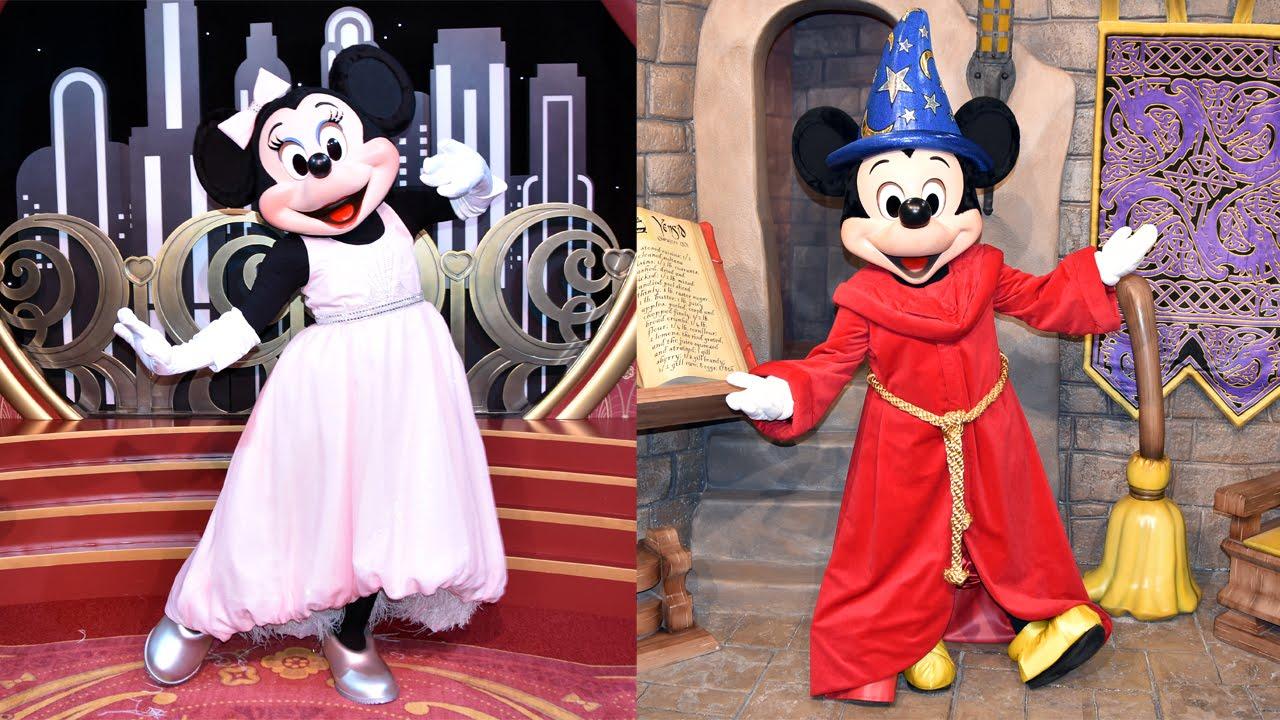 glamorous minnie & sorcerer mickey new meet & greet, red carpet