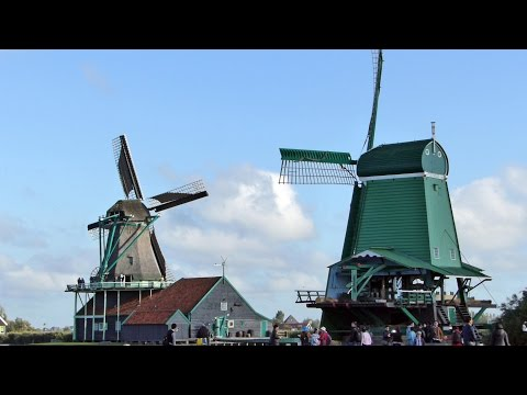 HOLLAND.WINDMILLS .AMSTERDAM RED LIGHT DISTRICT. CRUISE THE NORTH SEA CANAL.