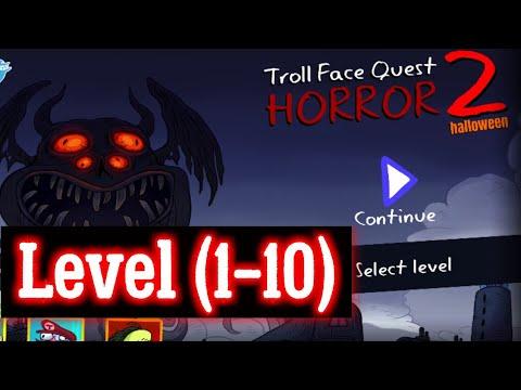 Troll Face Quest Horror 2 Level 1 2 3 4 5 6 7 8 9 10 Solution hint walkthrough