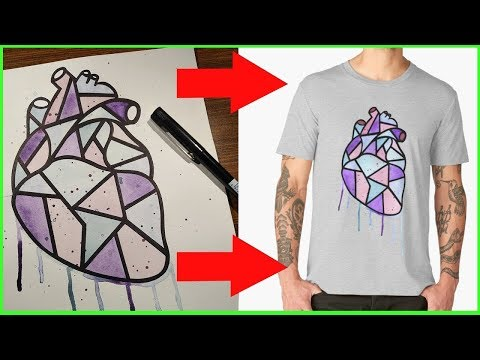 How to Turn Artworks into T-Shirt Prints  [A SHOW ABOUT ART - Ep.2]