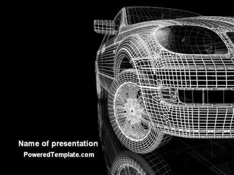 Car modeling powerpoint template by poweredtemplate youtube toneelgroepblik Image collections
