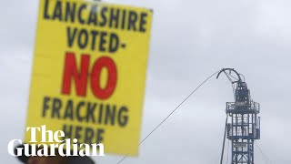 Protesters attempt blockade at Lancashire site as fracking begins
