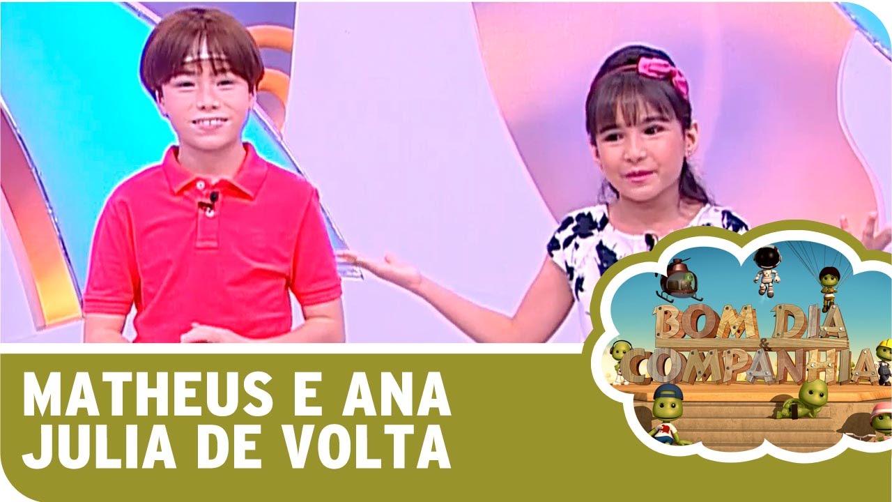 Bom Dia E Cia: Matheus Ueta E Ana Julia Estão