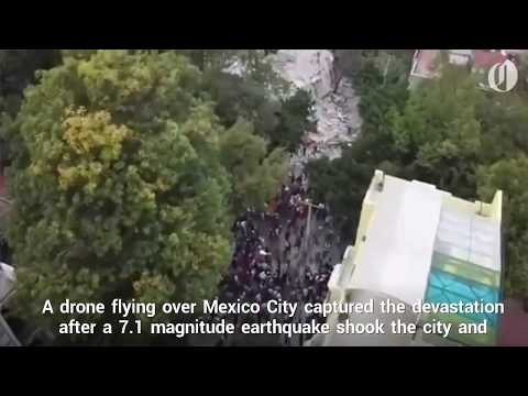 Drone Footage Captures Earthquake Devastation in Mexico