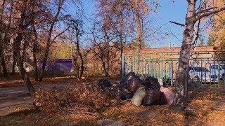 На некоторых улицах Пензы после субботника остались мешки с мусором
