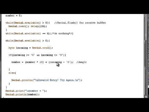 Arduino Programming Tutorials || Collecting multi-digit values using while and Serial.available()